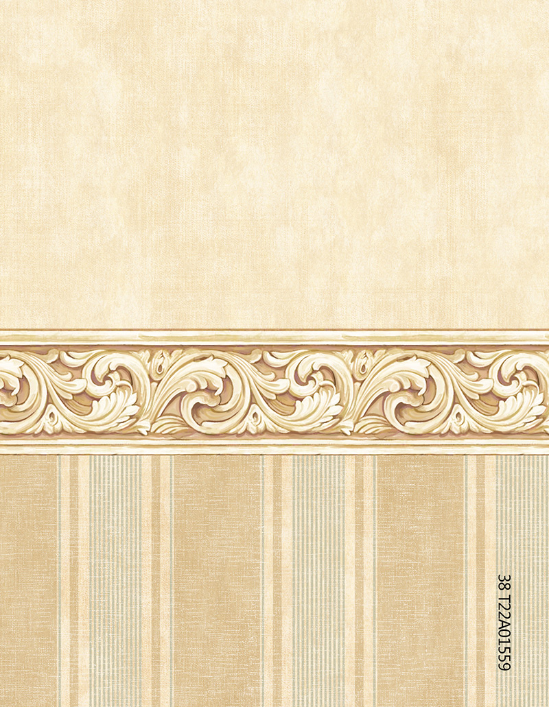 a01559(t22)美式墙布木雕花纹腰线竖线条仿羊绒