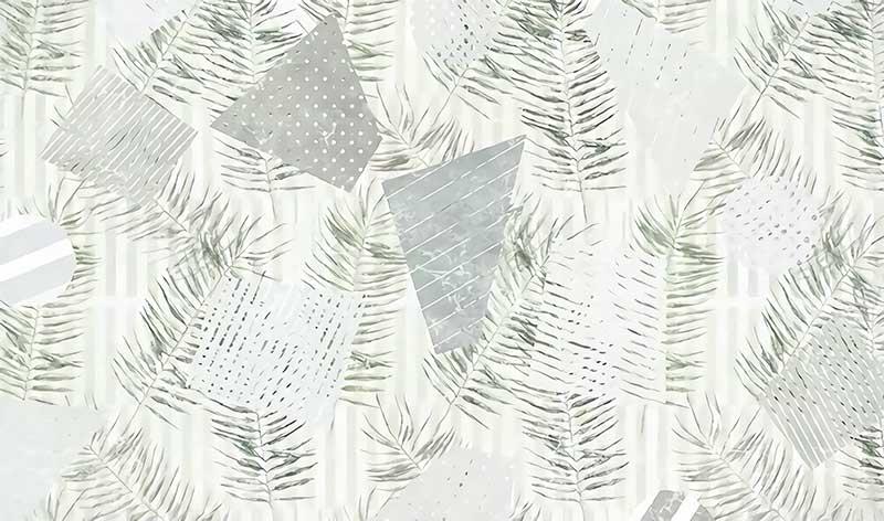 a03772(t35)现代流行树叶丛林芭蕉叶条纹几何北欧简约图片