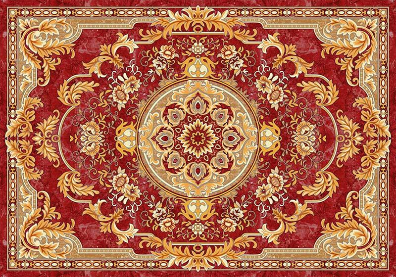 wl1210美式顶纸长方形花纹花边框地毯花纹