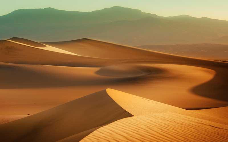 xt92949美式田园风景橙色黄色沙漠山水