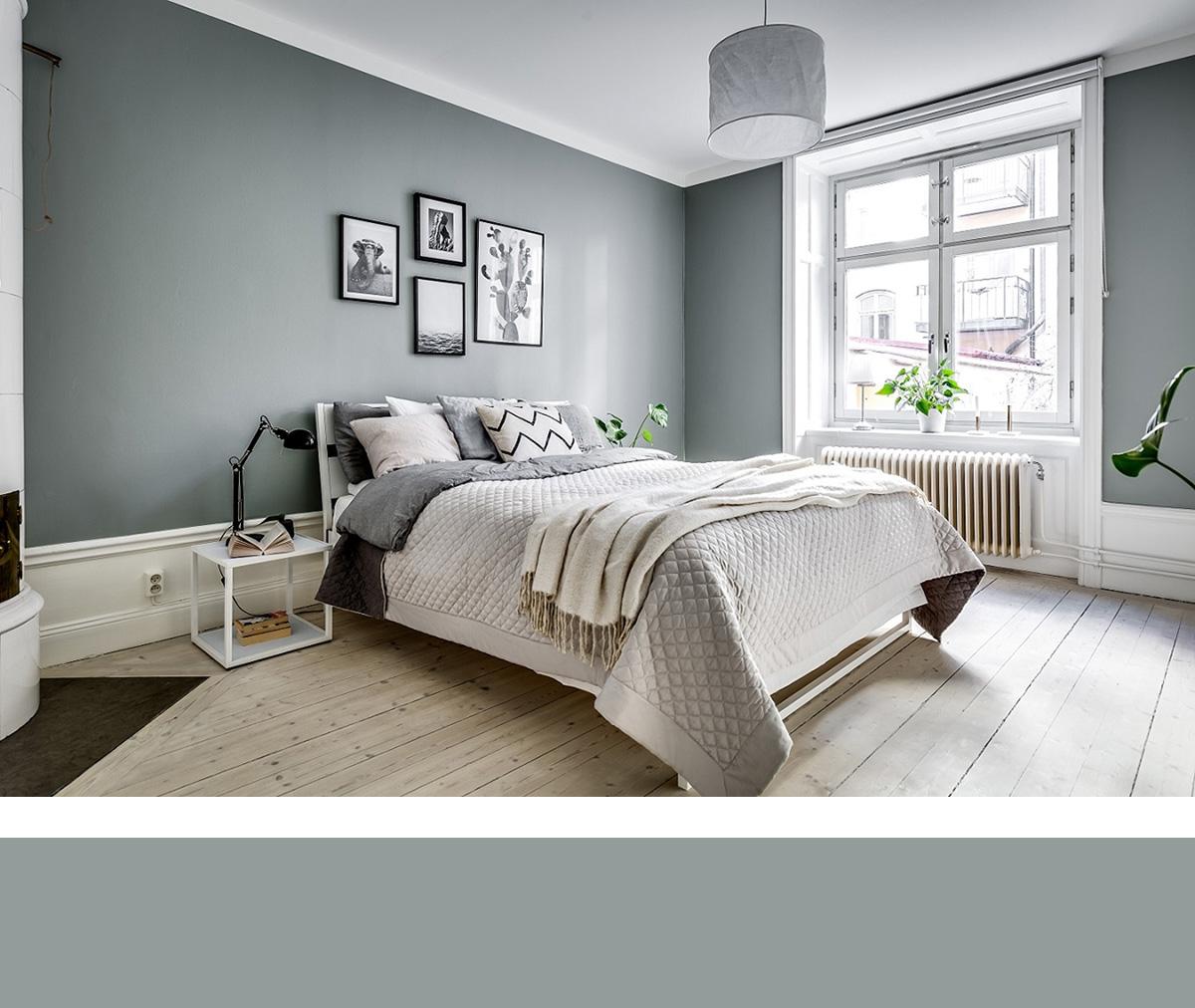 北欧效果图素色墙布会色x0012