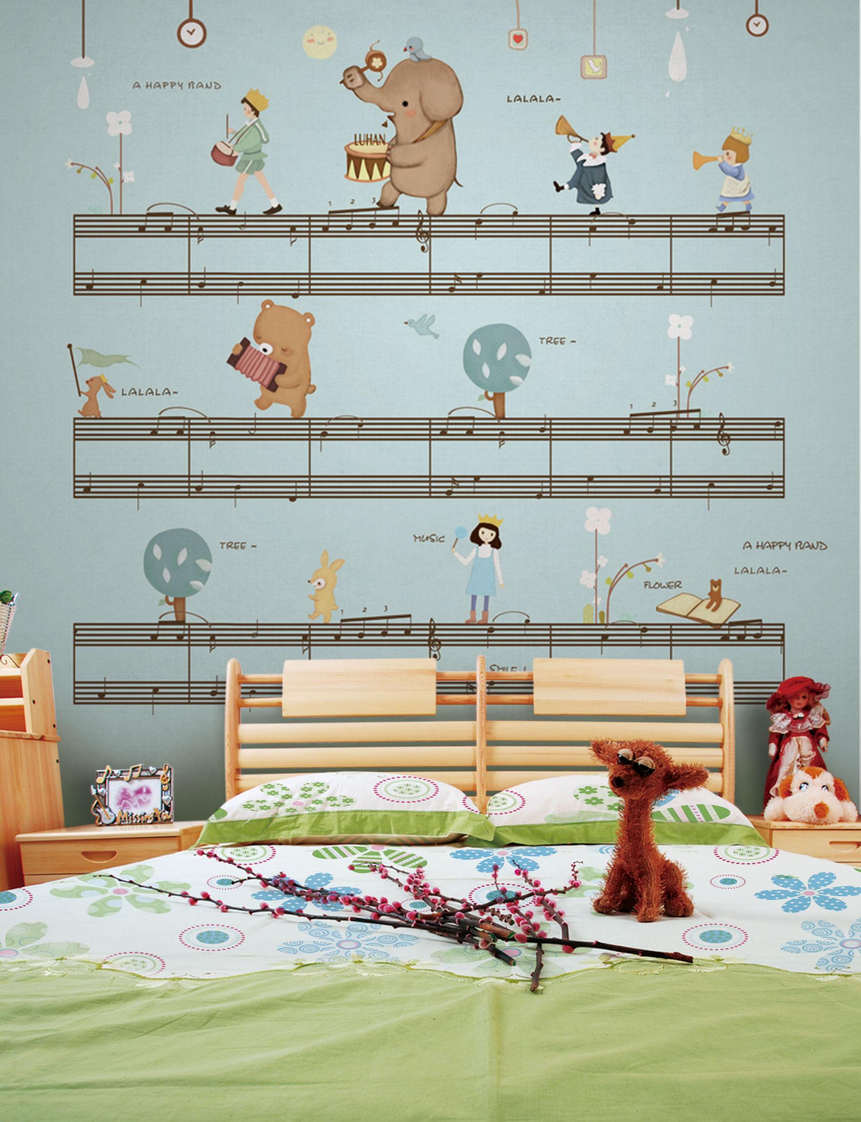 xr315儿童宝贝卡通大象五线谱女孩熊(2)